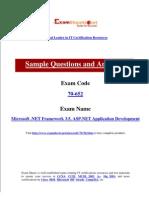 70-652 Microsoft .NET Framework 3.5, ASP.NET Application Development Guide For Exam