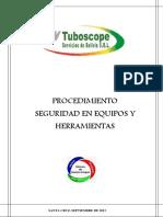 Proc Seguridad en Equipo y Herramientas Rev01