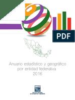 Anuario Estadistico y Geográfico Por Entidad 2016