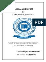 Industrial Visit Report Maruti Suzuki