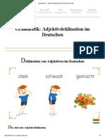 Grammatik __ Adjektivdeklination Im Deutschen