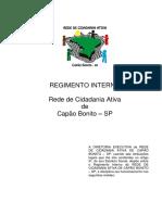 Regimento Interno Da Rede de Cidadania Ativa (Aprovado)