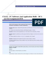IGNOU BCA CS-612 2nd Semester Solved Assignmnets 2010