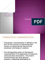 Therapeutic Communication techniques presentation