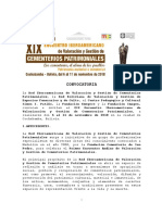 Convocatoria Oficial XIX Encuentro Cementerios Patrimoniales