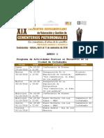 Anexo 1 Programa de Actividades del Encuentro