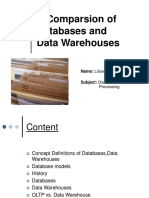 A Comparsion of Databases and DataWarehouses