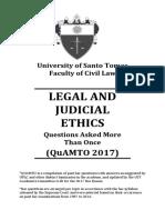 Legal Ethics QuAMTO 2017