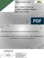Análisis y Selección de Material Para Materia Prima