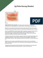 Pentingnya Gigi Palsu Kurang Disadari Lansia