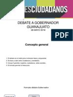 Presentación Debate a Gobernador de Guanajuato
