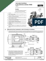 Instrucciones de Uso Para Bombas de Caudal Variable de Pistones Axiales v30d