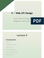 261 09 Web API Design