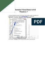 Cara Instalasi Visual Basic 6 Di Windows 7