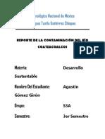 Reporte de La Contaminación Del Río Coatzacoalcos