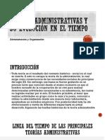 Teorías Administrativas y Su Evolución en El Tiempo