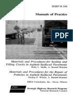 Asphalt Pavement Repair Manuals of Practice