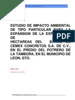 Estudio de Impacto Ambiental Cemex-leon