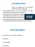 Diapositivas de Aguas Subterráneas