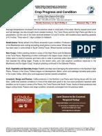 Texas Crop Progress and Condition