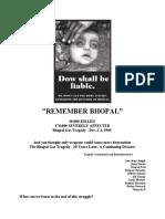 Remember Bhopal