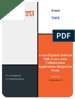 Examsout Avaya 7141X Dumps pdf