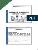 11. Manajemen Keselamatan Peralatan Medis Rev 01