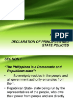 Article II Principles and State Policies
