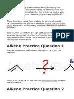 Alkene PracticeQuestion