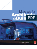 Materials for architecs and builders