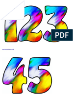 Colour Blur Numbers