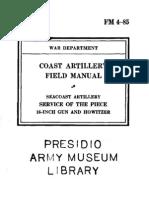 FM4-85 16in Gun and Howitzer 1940