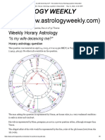 'is My Wife Deceiving Me_' - Free Weekly Horary Astrology Question Interpreted