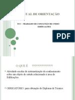 MANUAL DE ORIENTAÇÃO TCC DE EDIFICAÇÕES