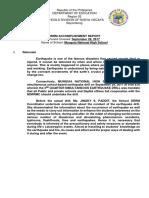 3Rd Quarter Earthqauke Drill Report - Copy
