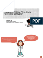 Blunt Abdominal Trauma in Pediatric Surgery