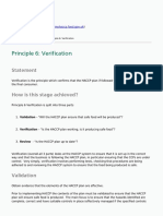 Myhaccp - Principle 6 Verification - 2015-10-21