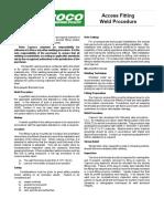 Access Fitting Weld Procedure