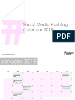 SocialMedia Hashtag Calendar 2018 Preppr
