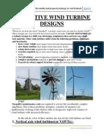 Innovative Wind Turbine Designs