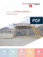 Advanced primary treatment for municipal wastewater