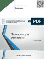 Bureaucracy v/S Democracy