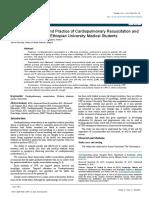 Knowledge Attitude and Practice of Cardiopulmonary Resuscitation Andassociated Factors in Ethiopian University Medical Students