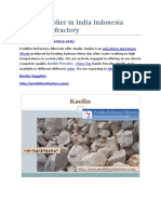 Kaolin Supplier in India Indonesia Pratibha Refractory