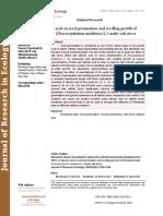 Effect of salicylic acid on seed germination and seedling growth of Moldavian balm (Dracocephalum moldavica L.) under salt stress