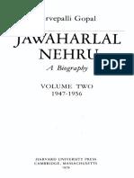 1979 Jawaharlal Nehru--A Biography Vol 2 1947-1956 by Gopal s