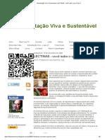 Alimentação Viva e Sustentável_ LECTINAS - Você Sabe o Que é Isso