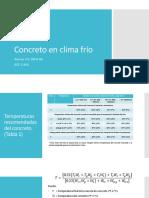 Concreto en Climas Fríos
