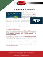 Electricfor Presente en Achema 2018