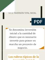 5.1.2. Inversión Total Inicial